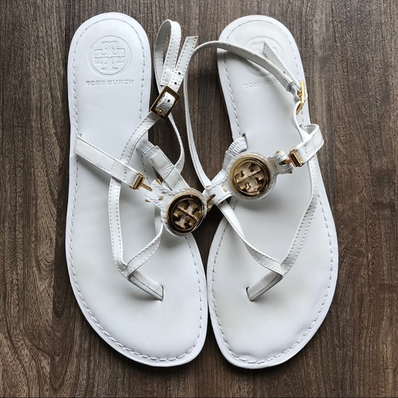Tory Burch Shoes - Tory Burch Sandal White and Gold